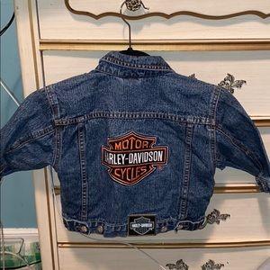 Harley Davidson kids Jean jacket with emblem